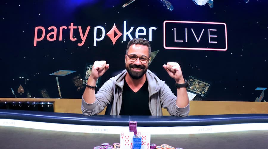 party poker live gagnant